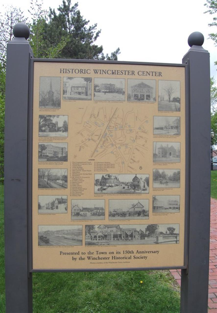 Historic Center Sign | Winchester, MA