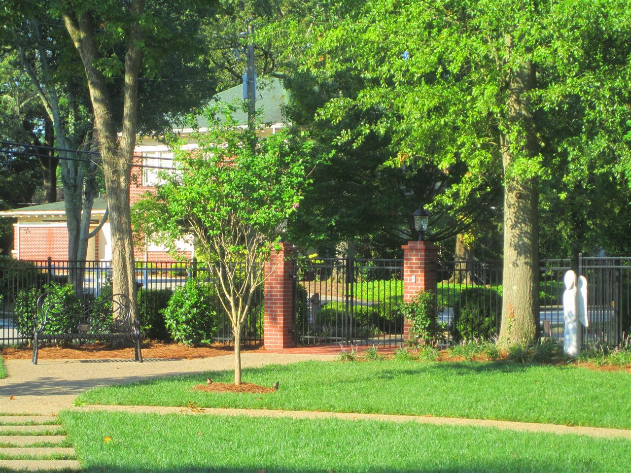 Entry Gate Jones Memorial Garden Candler Street Gainesville, Georgia