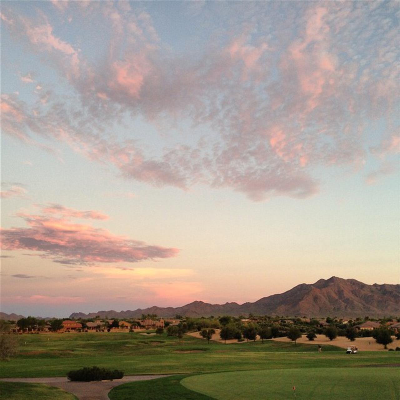 San Tan Mountain at sunset, Gilbert, AZ #LeadingRELocal #Sevillegolfandcountryclub
