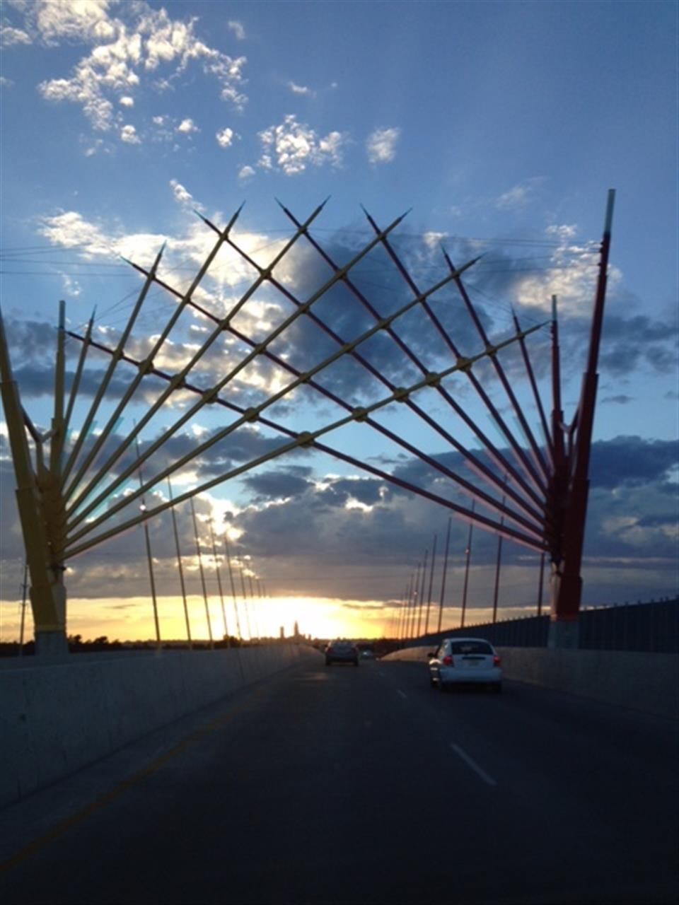 Bridge during sunset Council Bluffs IA