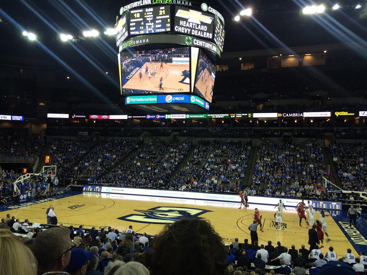 Creighton University Jays Men's Basketball Game - CenturyLlink Center, Downtown Omaha NE