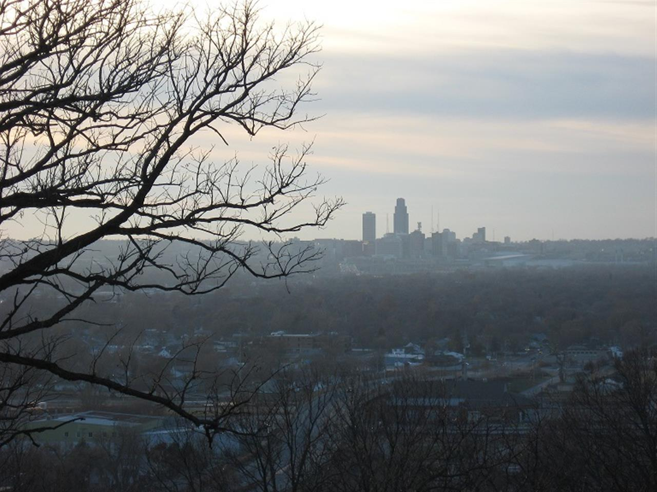 Downtown Omaha from Fairview Cemetery Council Bluffs IA