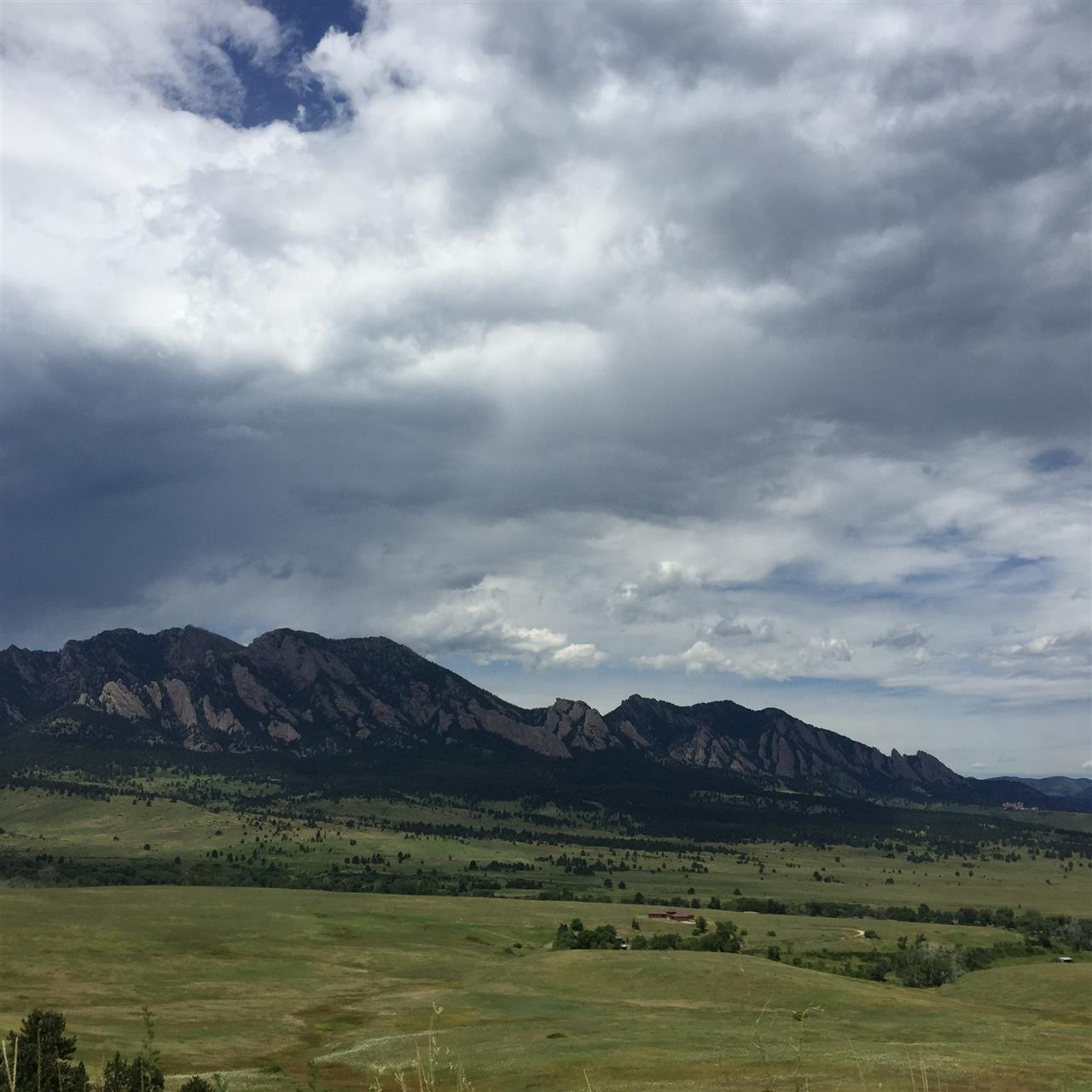 View of the Flatirons.