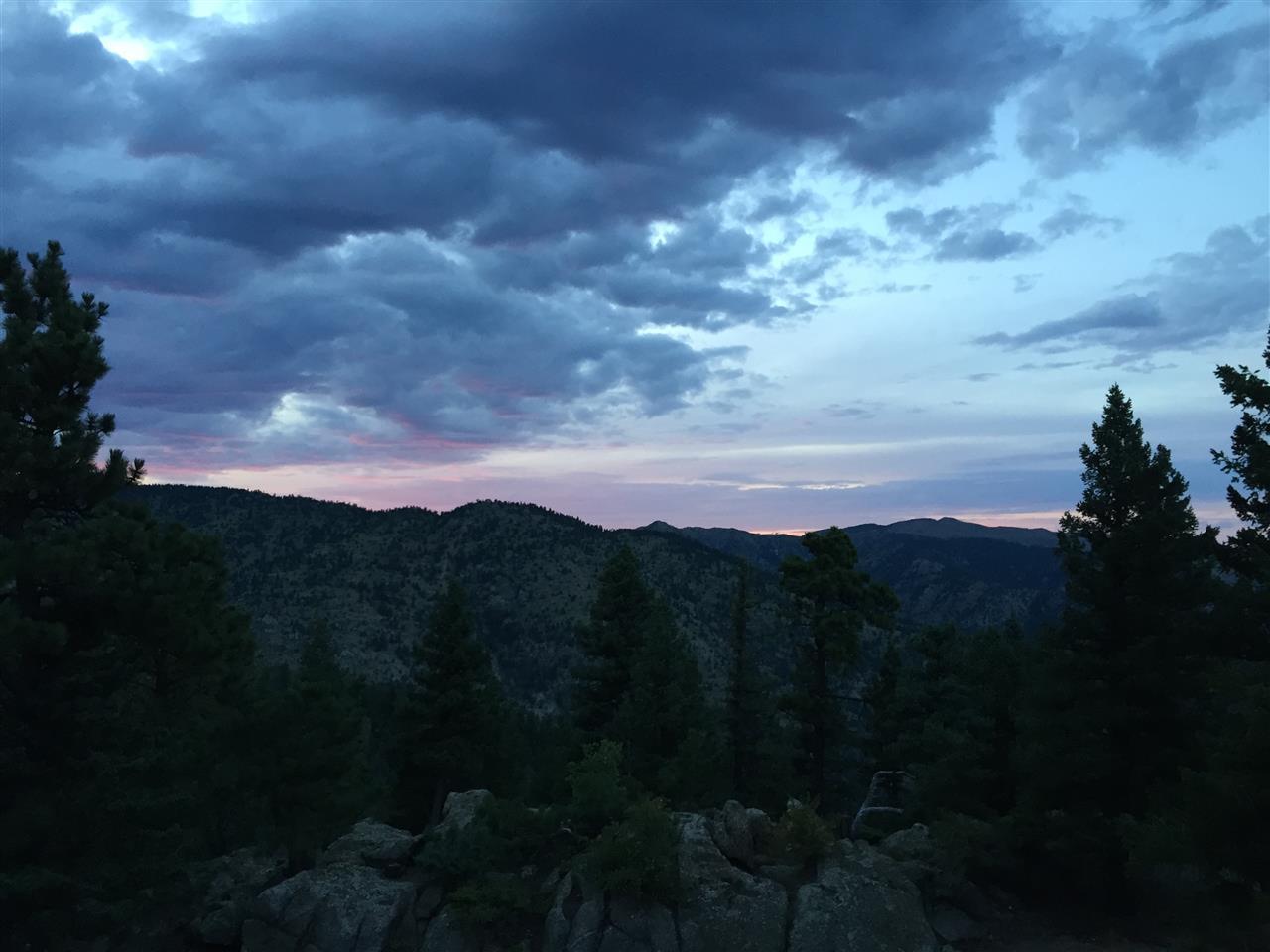 Sunset from Boulder Heights, Boulder, CO