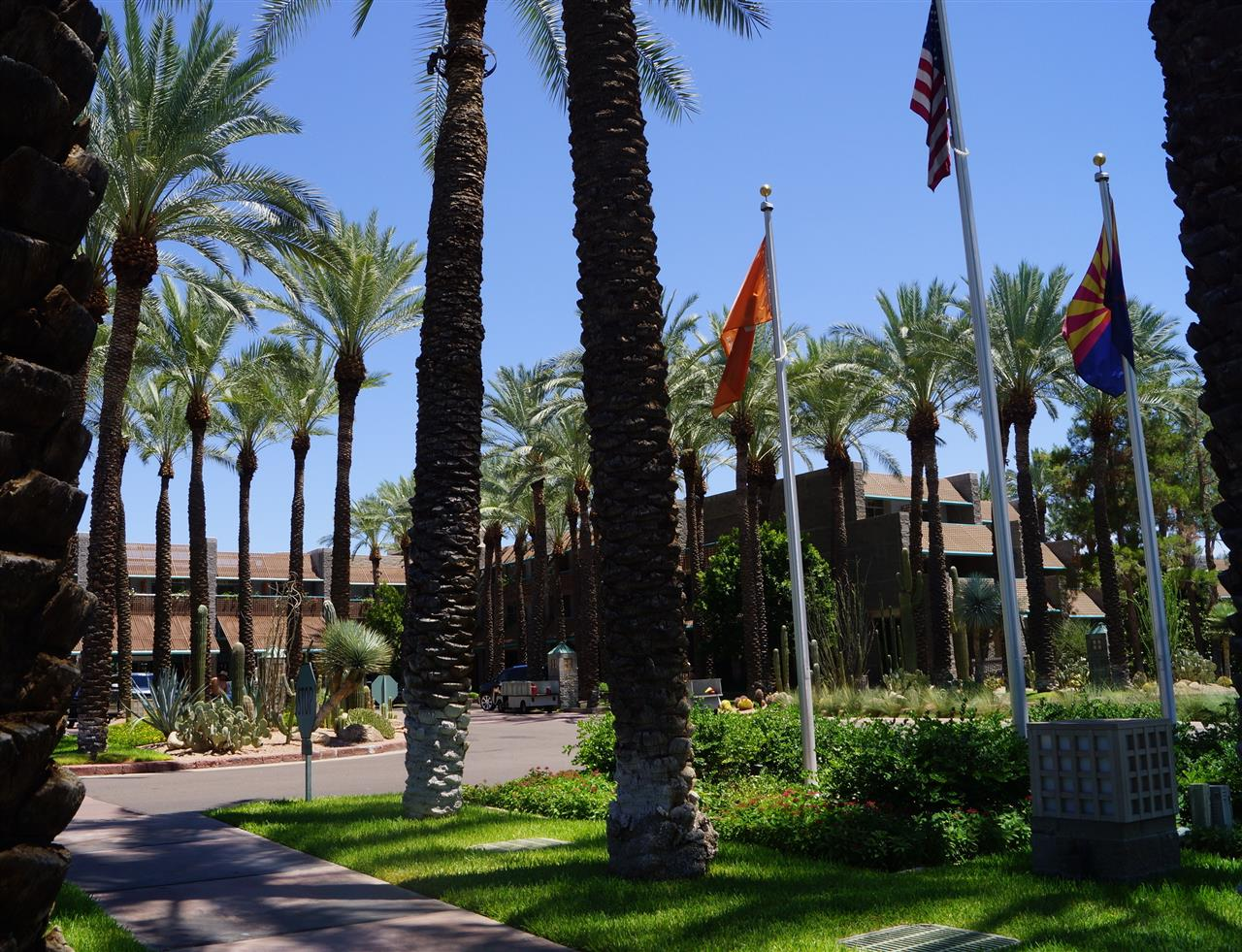 Scottsdale, AZ is known for its resorts.  Relax and play golf at the Hyatt at Gainey Ranch.