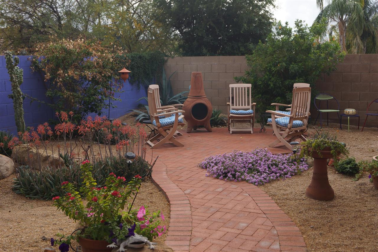 A relaxing backyard is essential after a hard day of work. Scottsdale, AZ