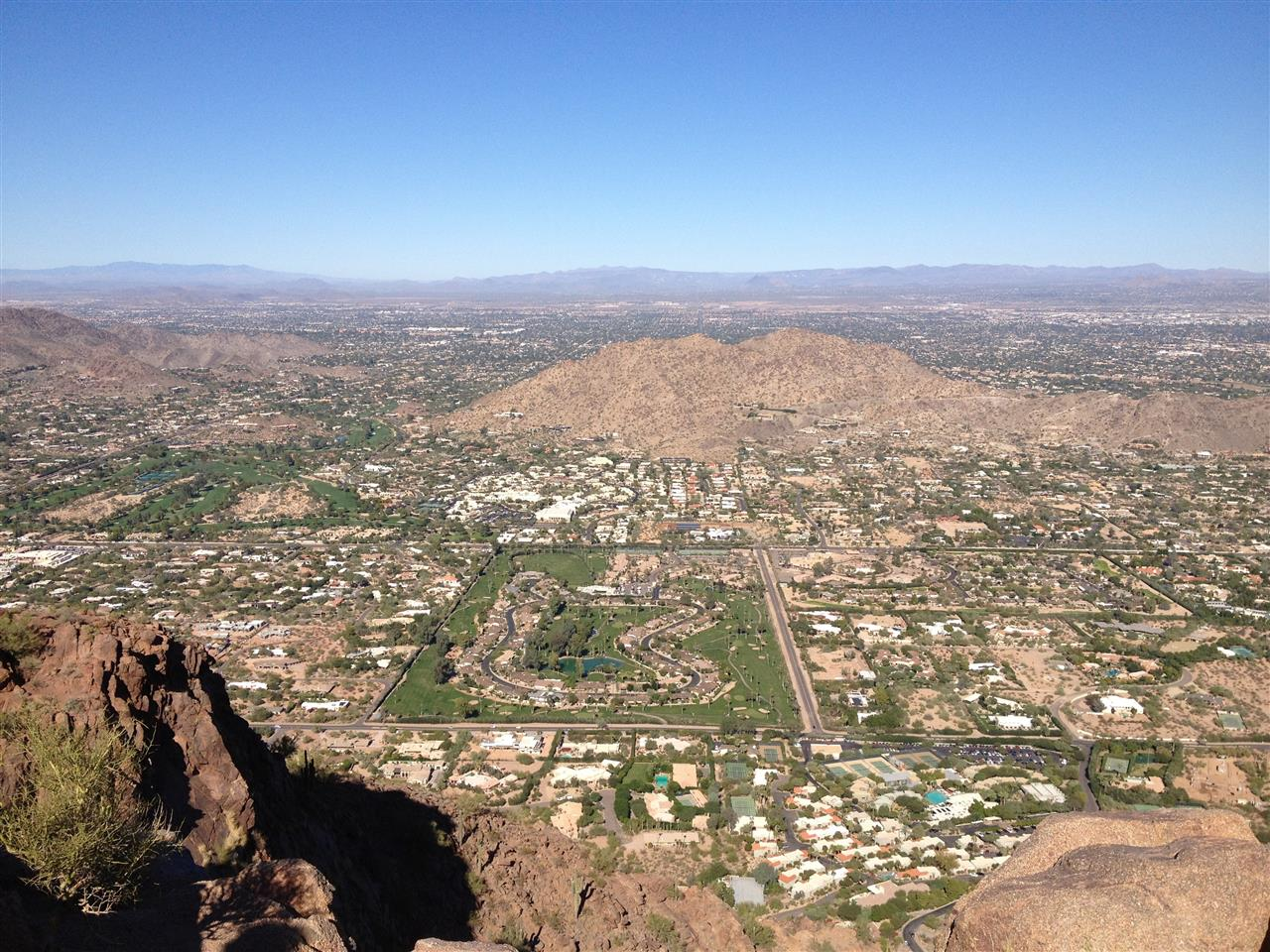 Echo Canyon looking east from Camelback Mountain, Paradise Valley, AZ
