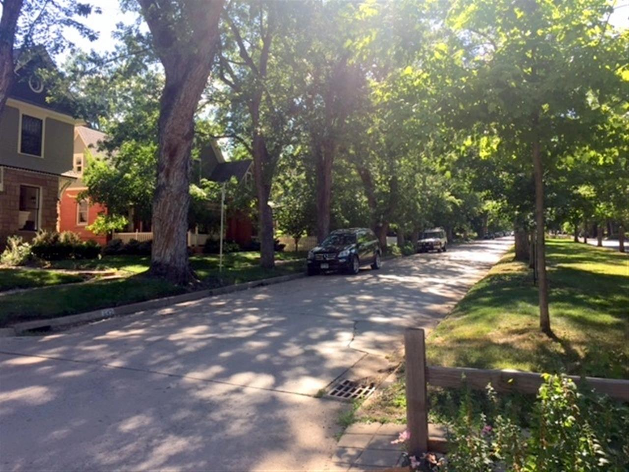 Beautiful tree lined Mapleton St in Boulder