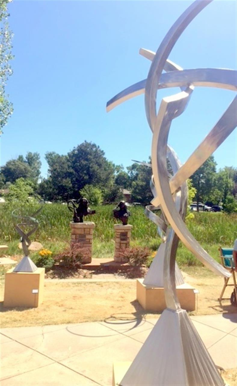 """Loveland CO """"Sculpture in The Park"""" event."""
