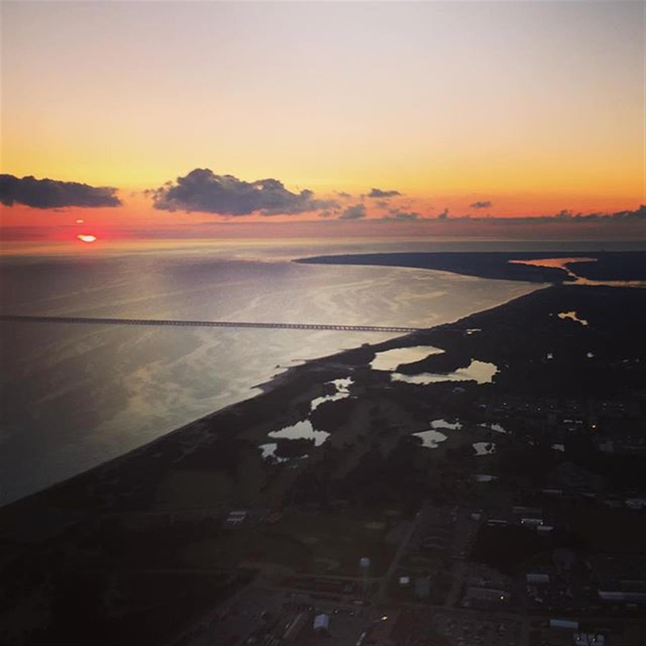 Sunrise over the #ChesapeakeBay and #VirginiaBeach. #LeadingRElocal #charmedlife