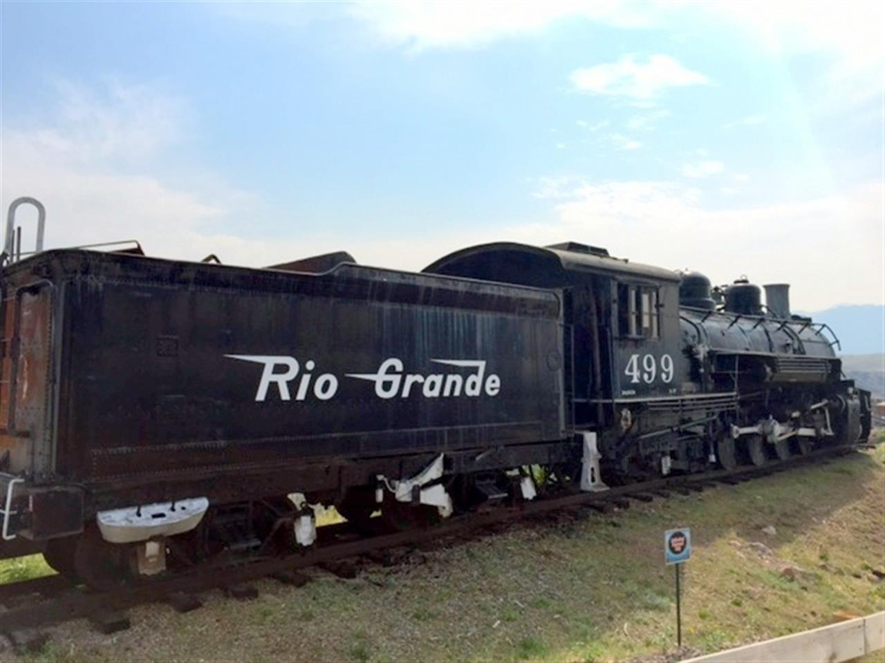 Retired Rio Grande train.  Royal Gorge, Canon City CO