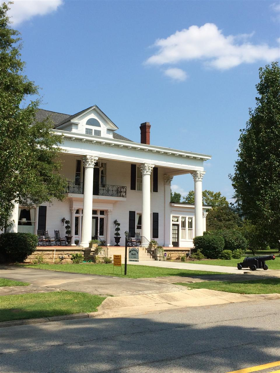 Wisteria Hall, located in Waynesboro, GA is one of the town's oldest homes.  Today, it is used a historic site for public events.