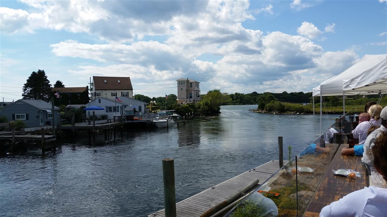 View from outdoor dining at Matunuck Clam Bar, East Matunuck in Wakefield,  RI