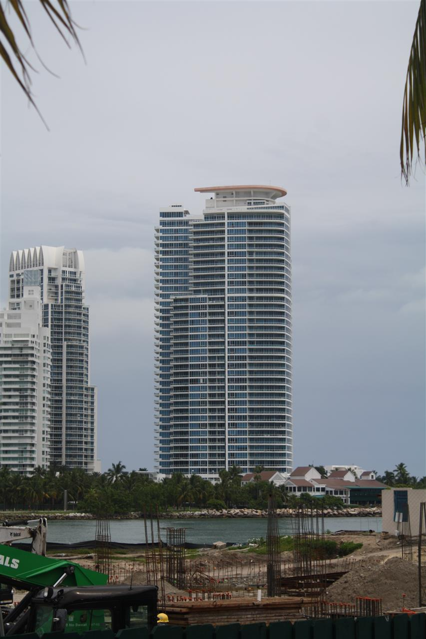 View of Miami Beach Condo Towers, from Fisher Island
