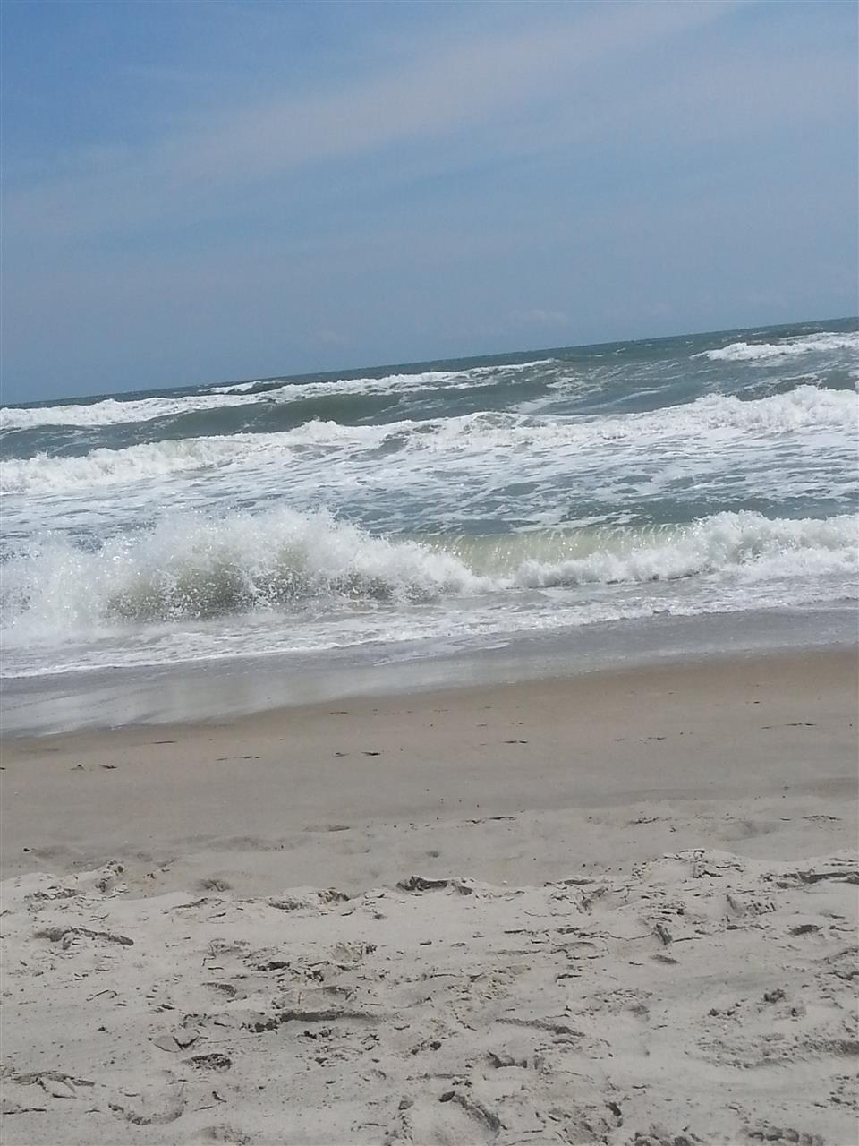 A day at the beach with rough waters, Morehead City NC