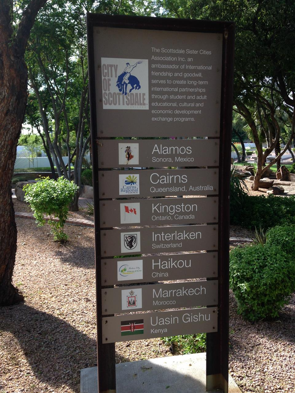 We're local, we're global in Scottsdale, Arizona.