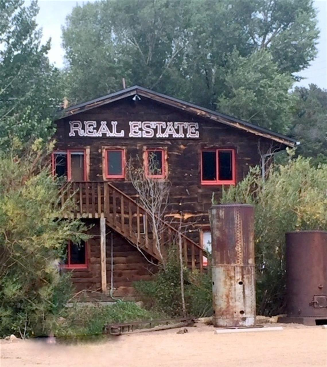 Couldn't resist a photo of the Real Estate office in Ned.