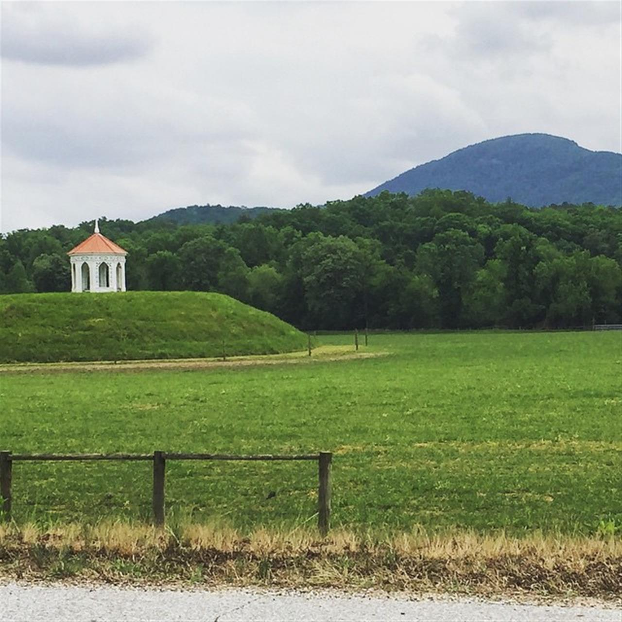 Nacoochee Indian Mound near Helen GA, one of Georgia's most photographed sites.