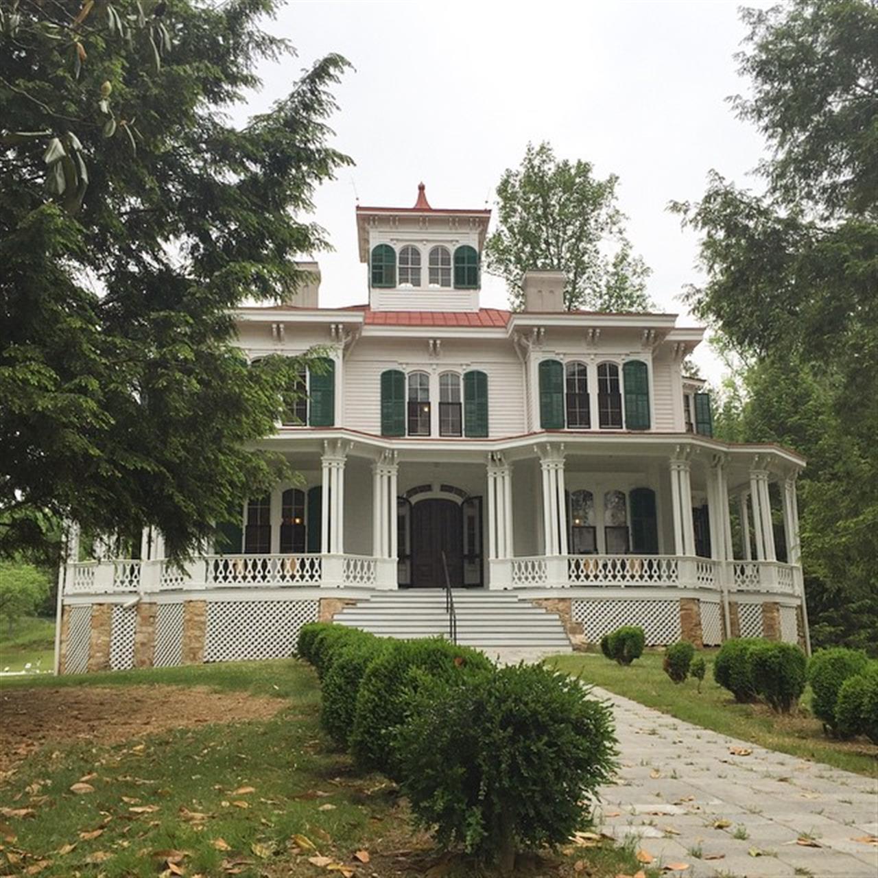 The Hardman Farm residence at the Historic Hardman Farm State Park in Helen GA