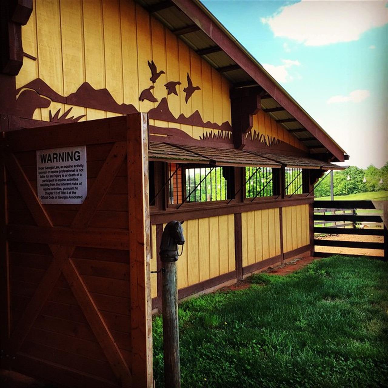 A barn near Homer GA
