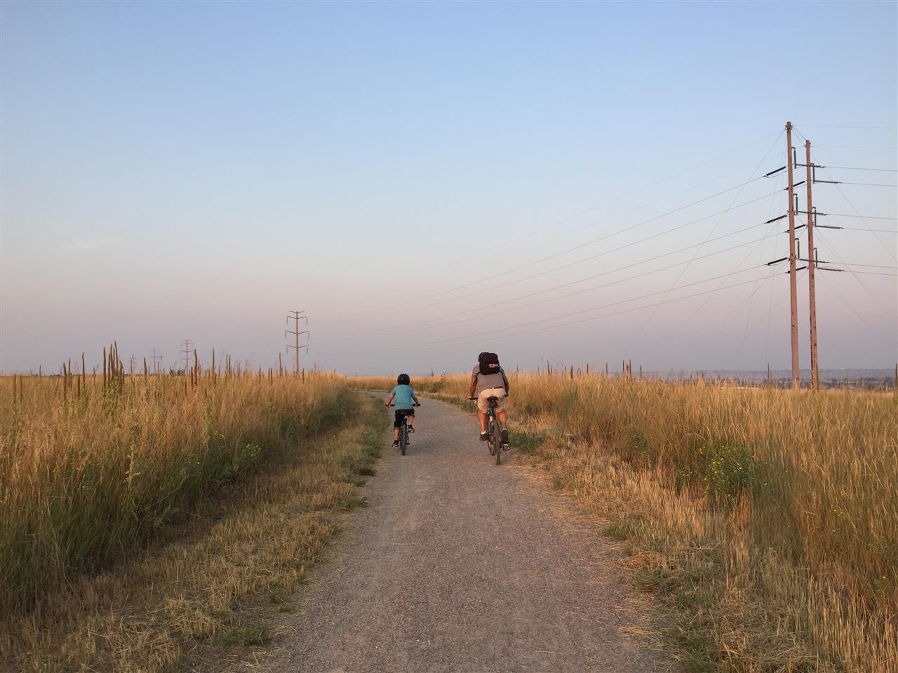 Bikers at Davidson Mesa, Louisville, CO