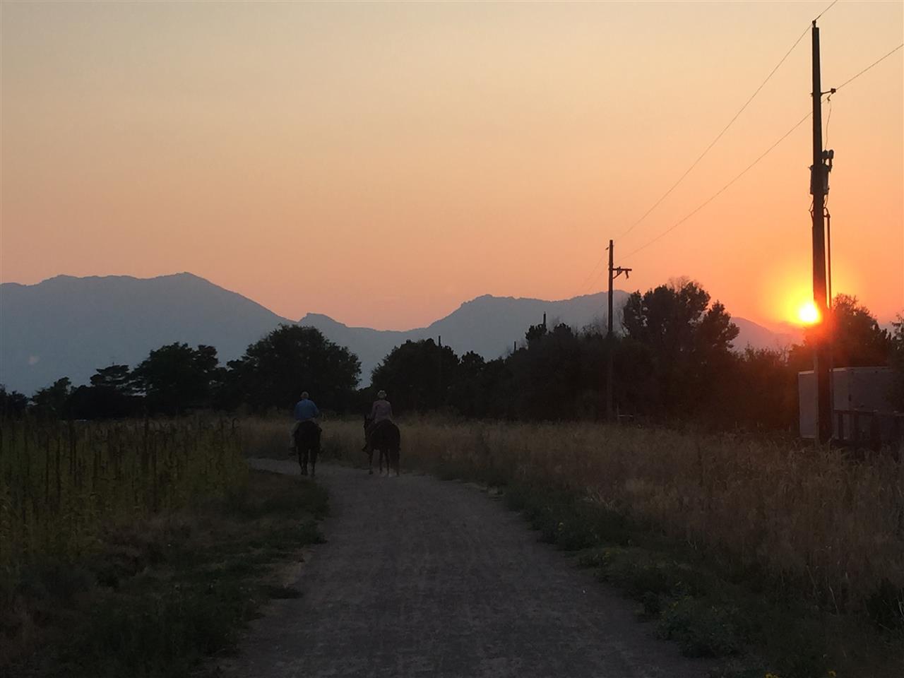 Horseback Riders at Sunset, Davidson Mesa, Louisville, CO
