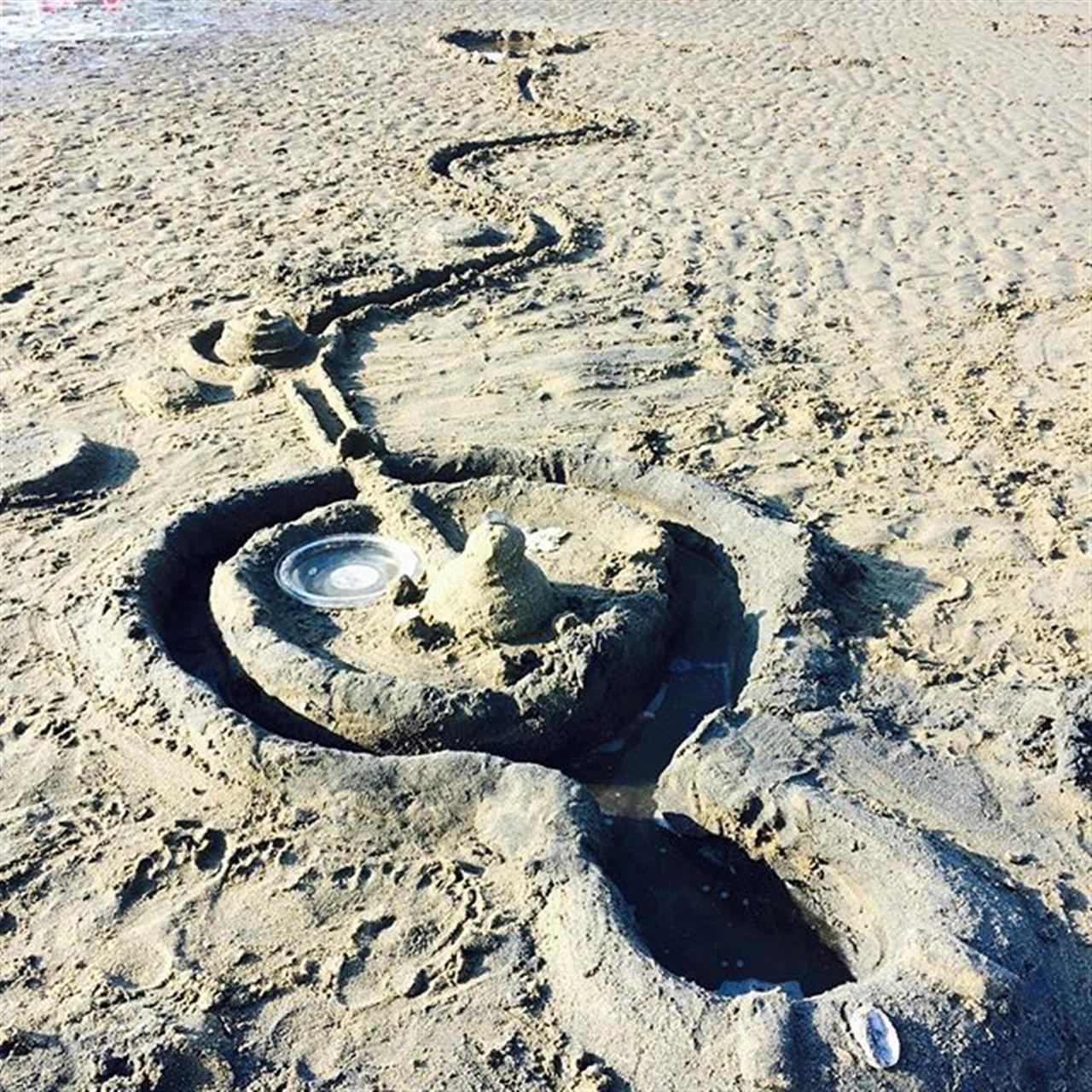 Saturday's sand bar masterpiece! #ilovefairfield #coastalconnecticut #fairfieldctbeaches #LeadingRELocal