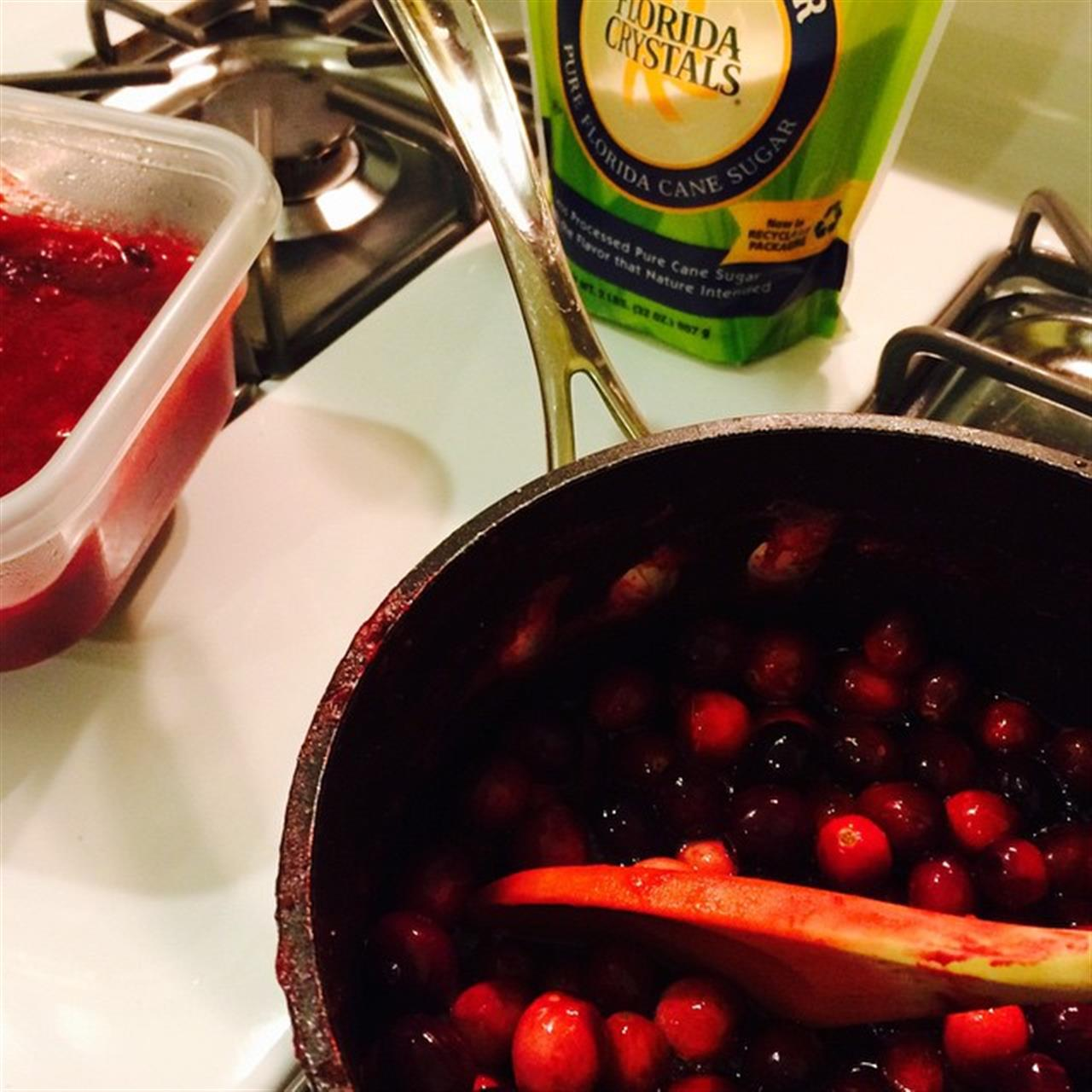 My job is the cranberry sauce and a salad.  Work in progress :-) #thanksgiving #cranberries #ctfood #LeadingRELocal