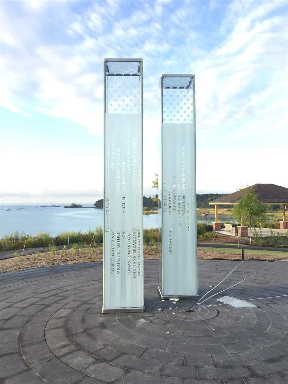 New Cos Cob 9/11 memorial  in Cos Cob,CT.