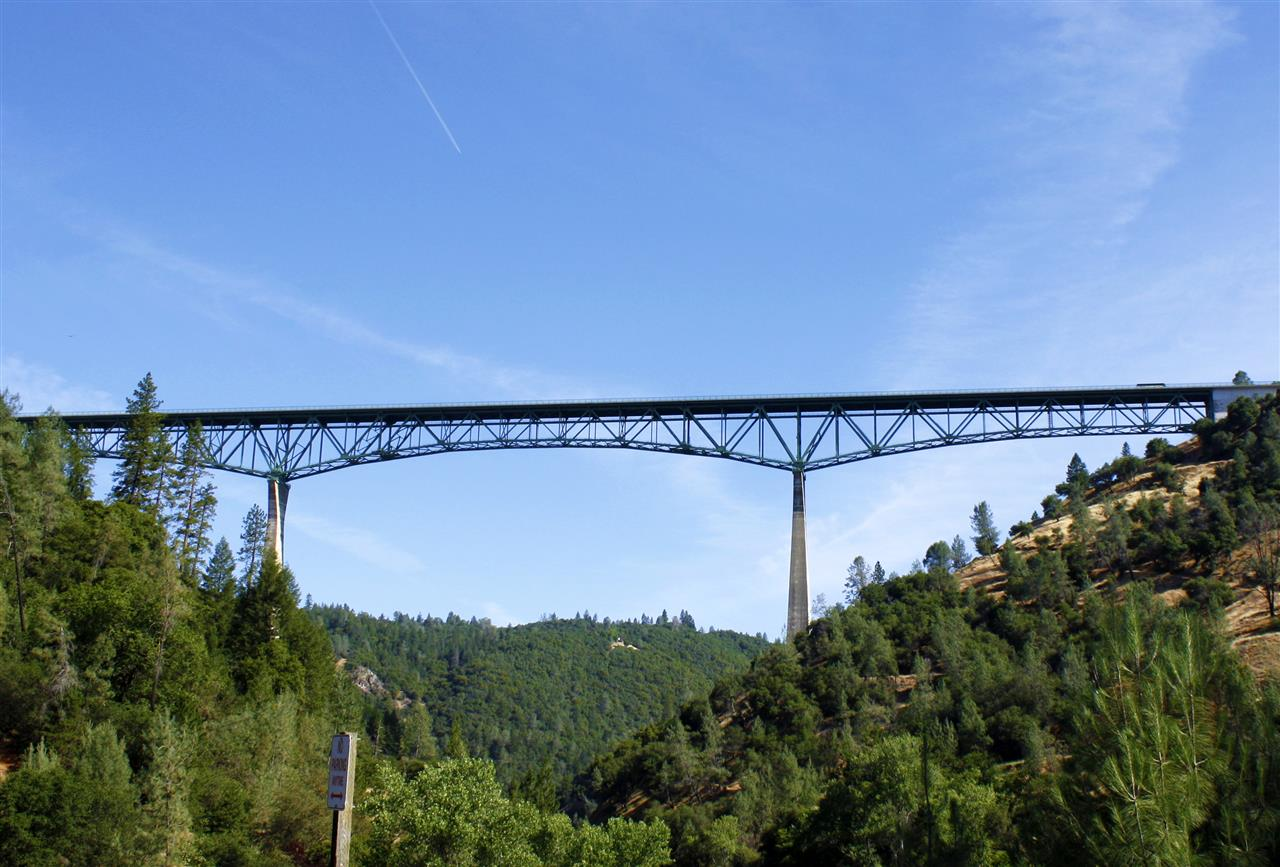 Foresthill Bridge located over the North Fork American River and is the highest bridge in California. #LeadingRELocal #LyonRealEstate