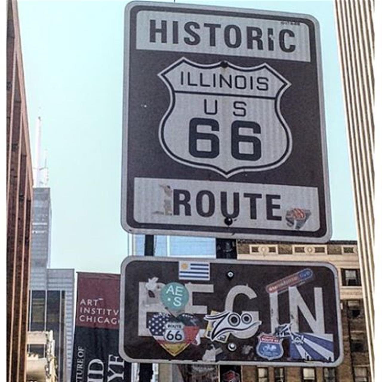 Get your kicks #route66 #chicago #route66signs #leadingrelocal