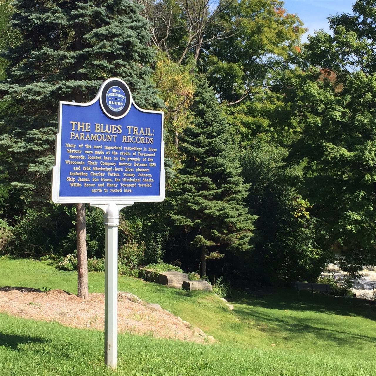 The Blues trail marker. Grafton Wi