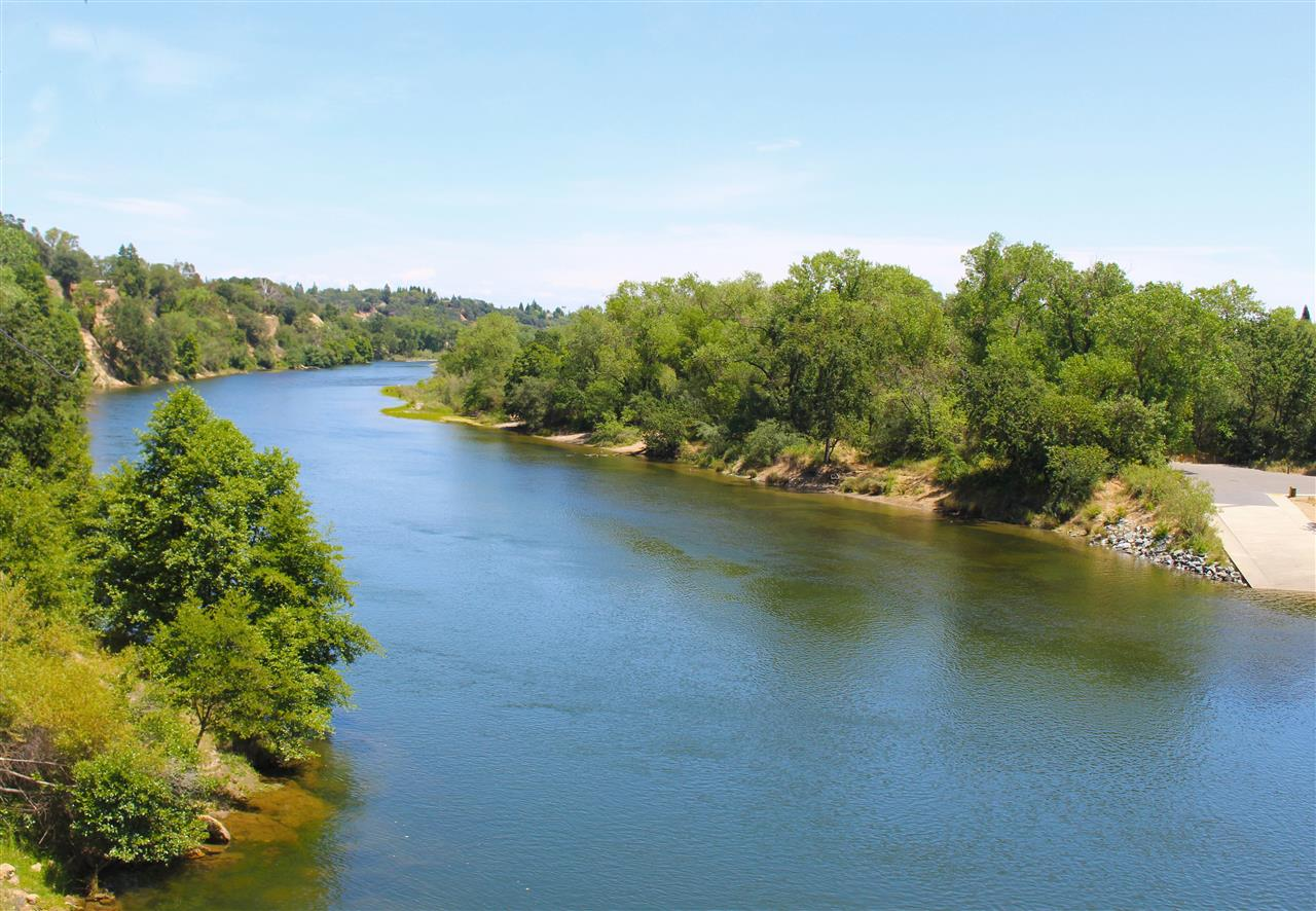 American River view from the Fair Oaks Bridge.  #LeadingRELocal #LyonRealEstate