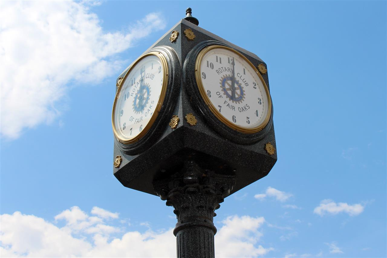 Iconic clock tower in Old Town Fair Oaks. #LeadingRELocal #LyonRealEstate