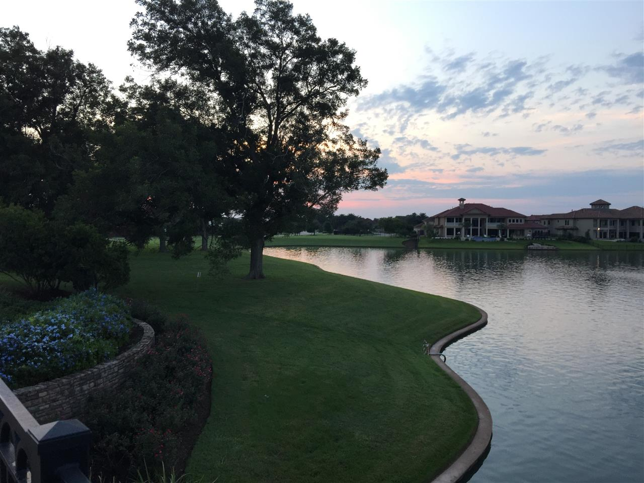 Lakefront view in Riverstone. Sugar Land, TX