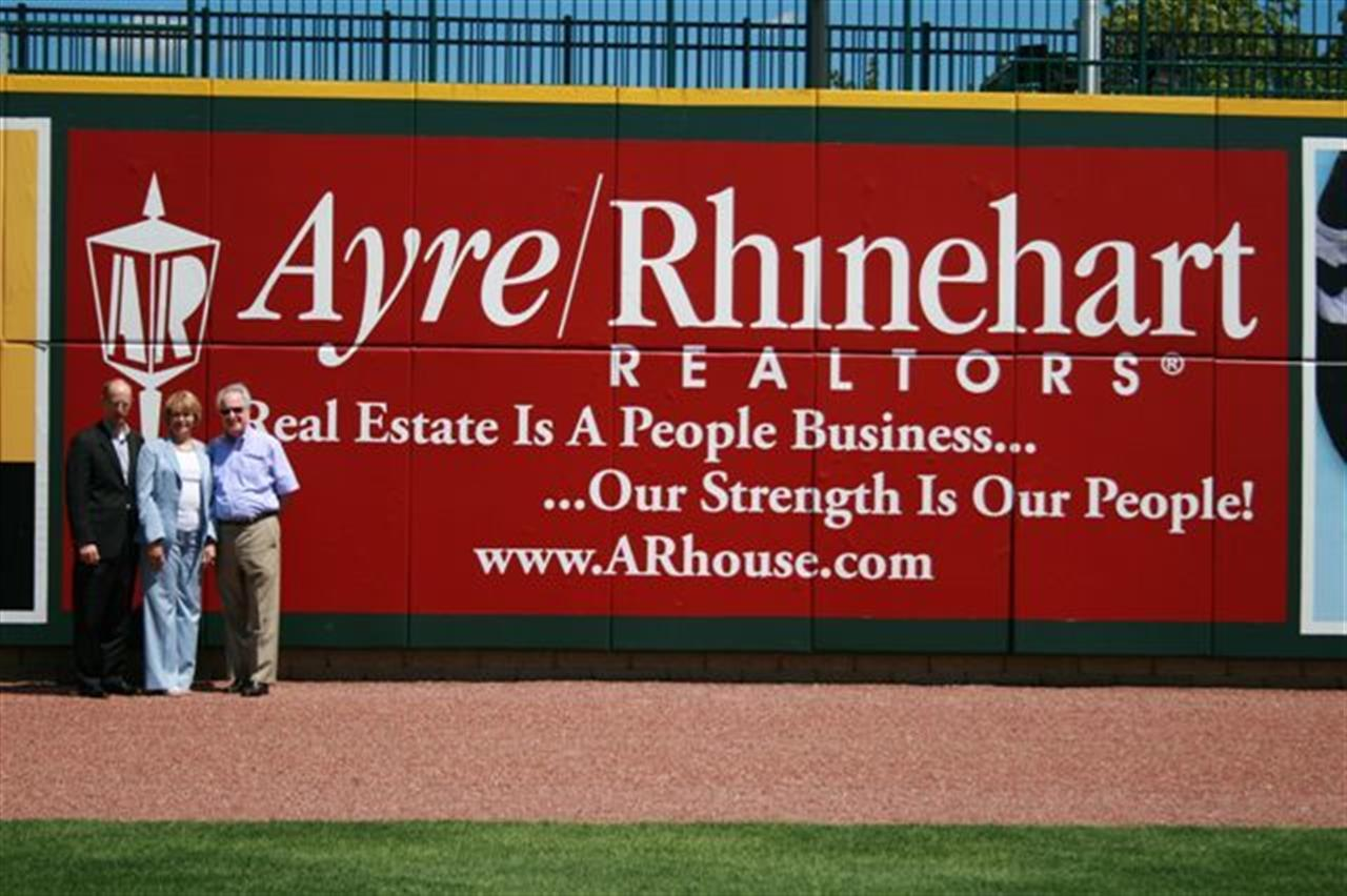 Ayre/Rhinhart Realtors sponsors for inaugural season for the Great Lakes Loons at the Dow Diamond.  Midland, MI