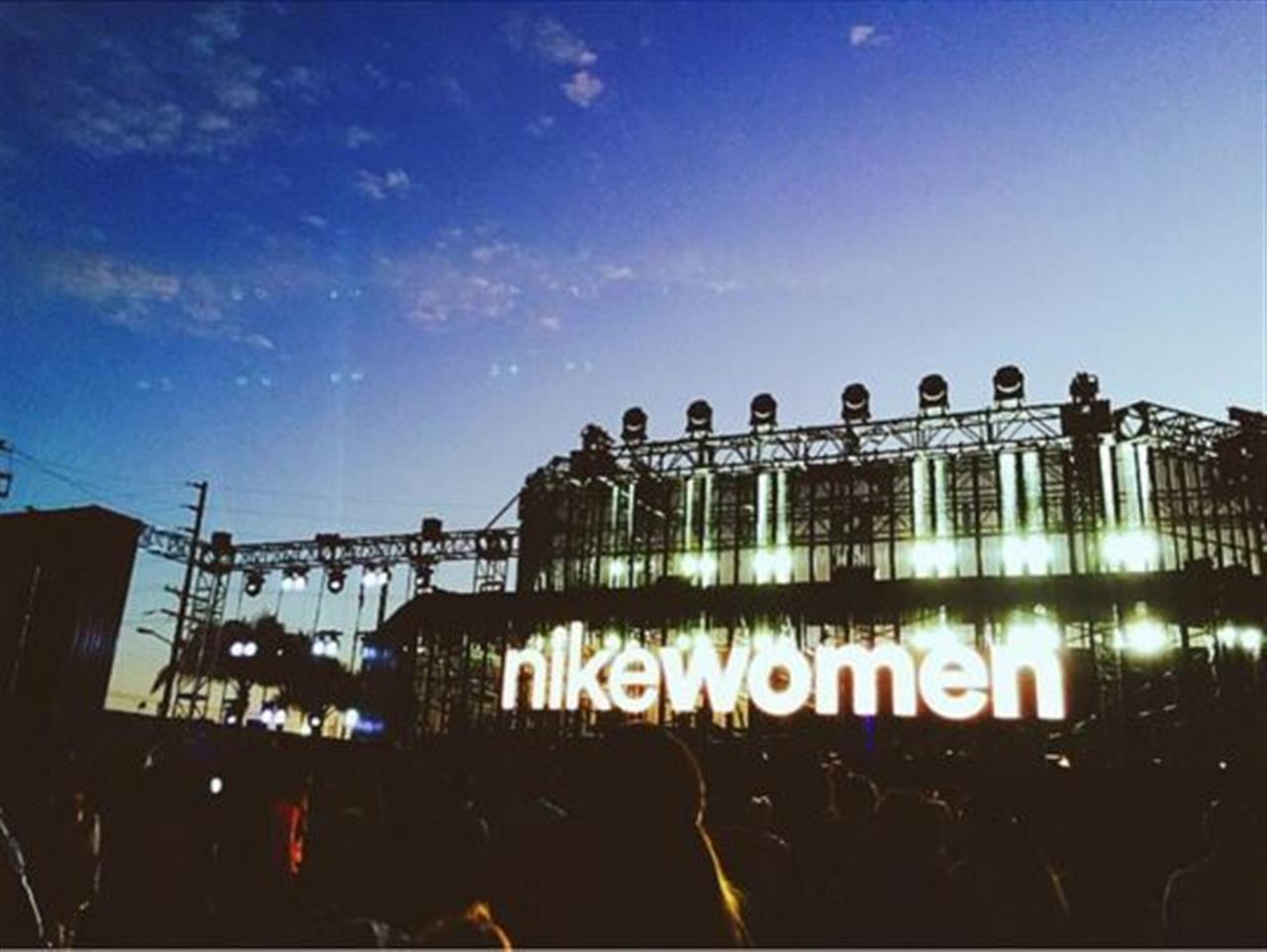 Nike Women event in the Arts District of Downtown LA