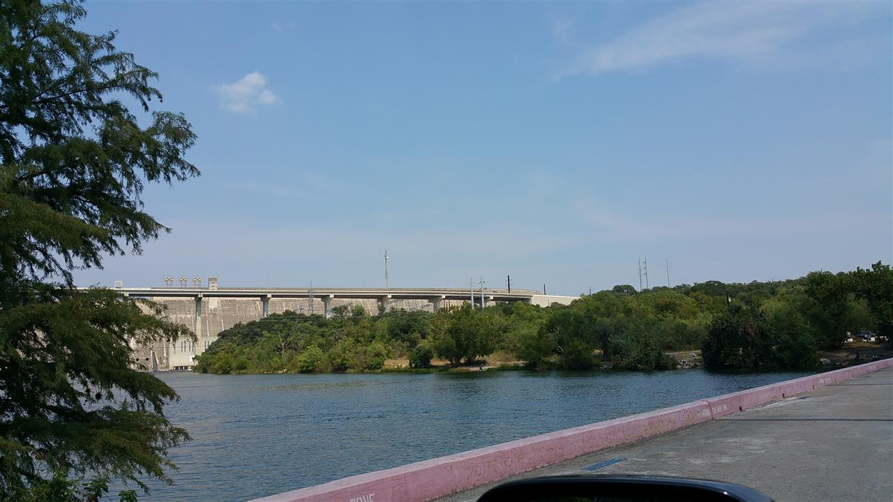 Mansfield Dam - view from low water crossing between the Apache Shores and Steiner Ranch communities