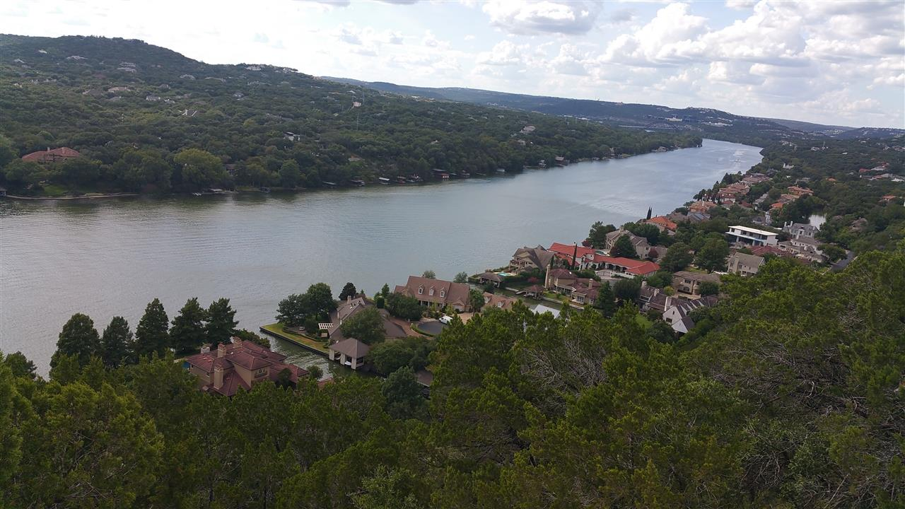 Mount Bonnell Austin TX, looking toward 360 bridge