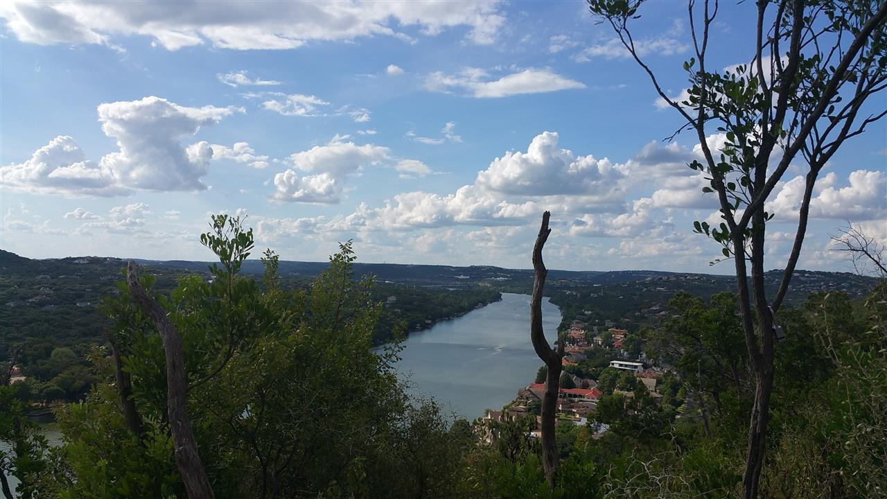 Colorado River - Lake Austin - View from Mount Bonnell