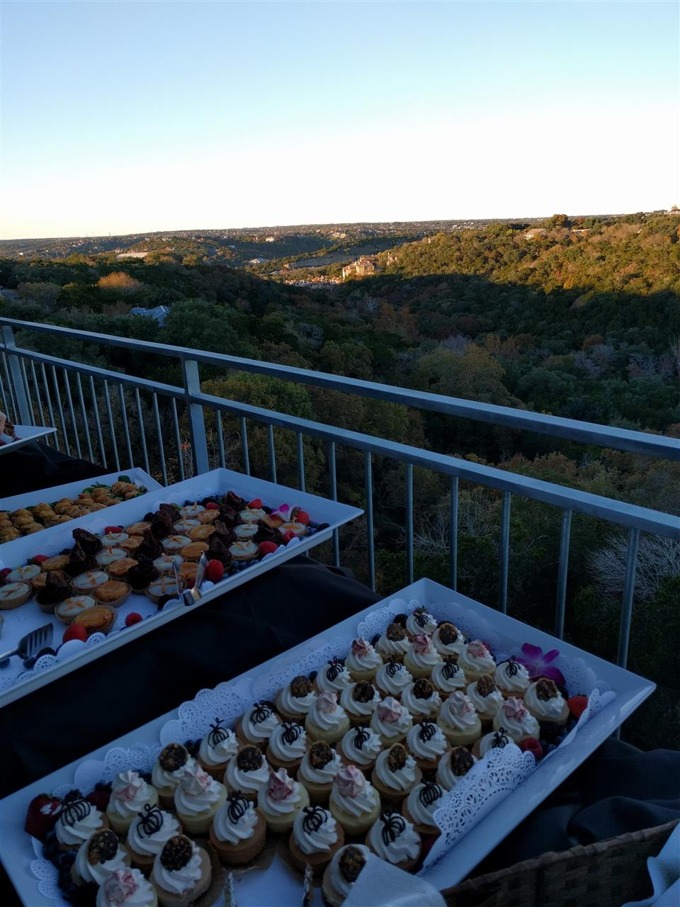 Independence Title Happy Hour at ABOR (Austin Board of Realtors) Views of the North West Hills, Loop 360 hidden between them & awesome deserts!