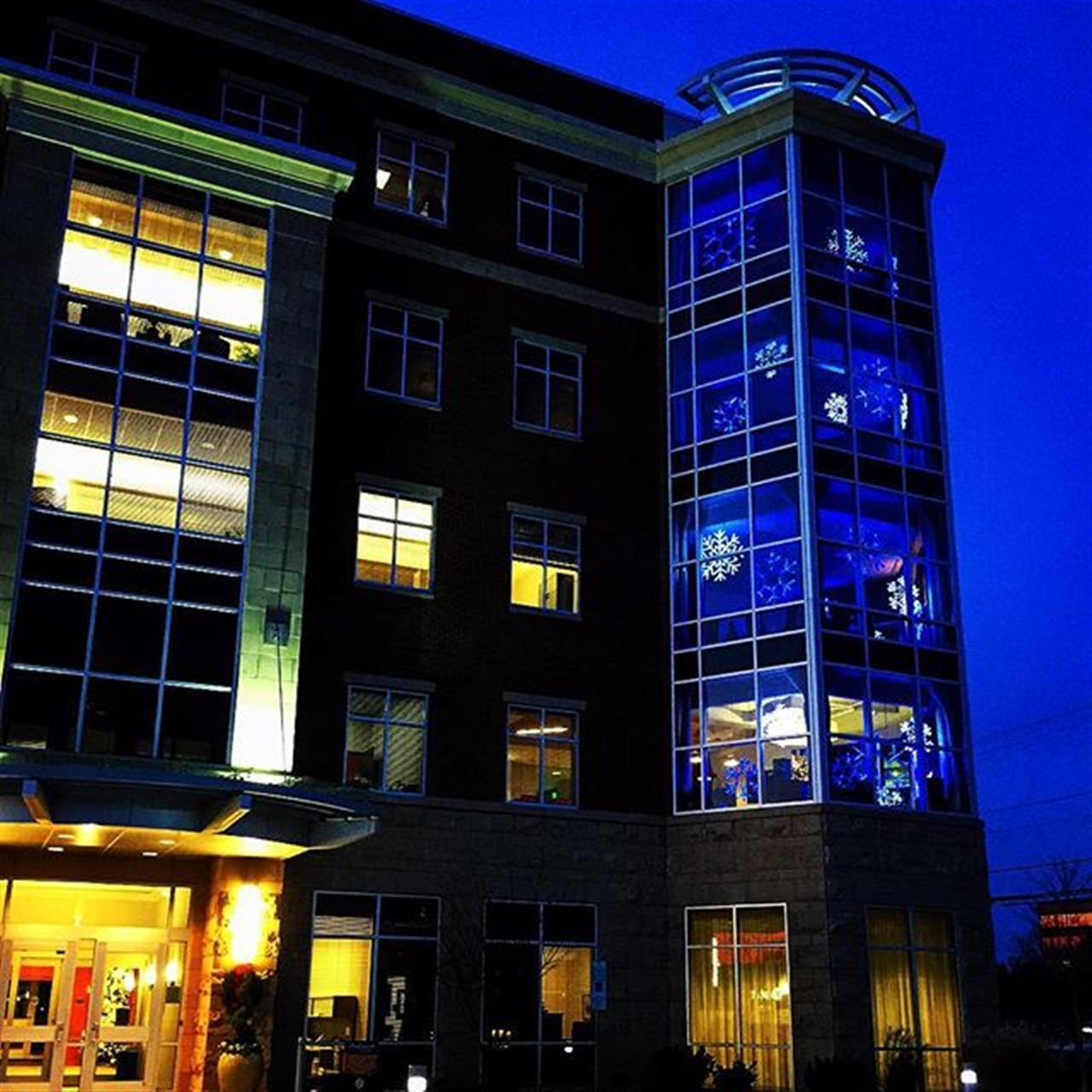 December lights at Leonard Ryden Burr Real Estate Winston-Salem, NC #lrbhomes #leadingrelocal #december2015 #WSNC