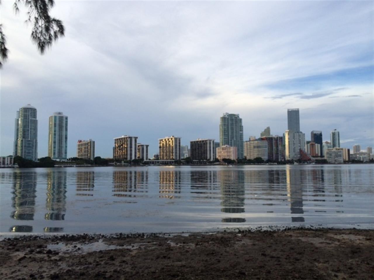 Miami Skyline taken from Key Biscayne Causeway