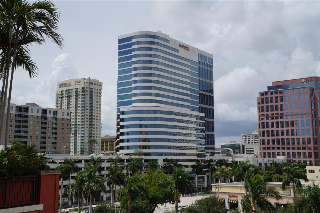 Downtown Fort Lauderdale taken from the Waverly