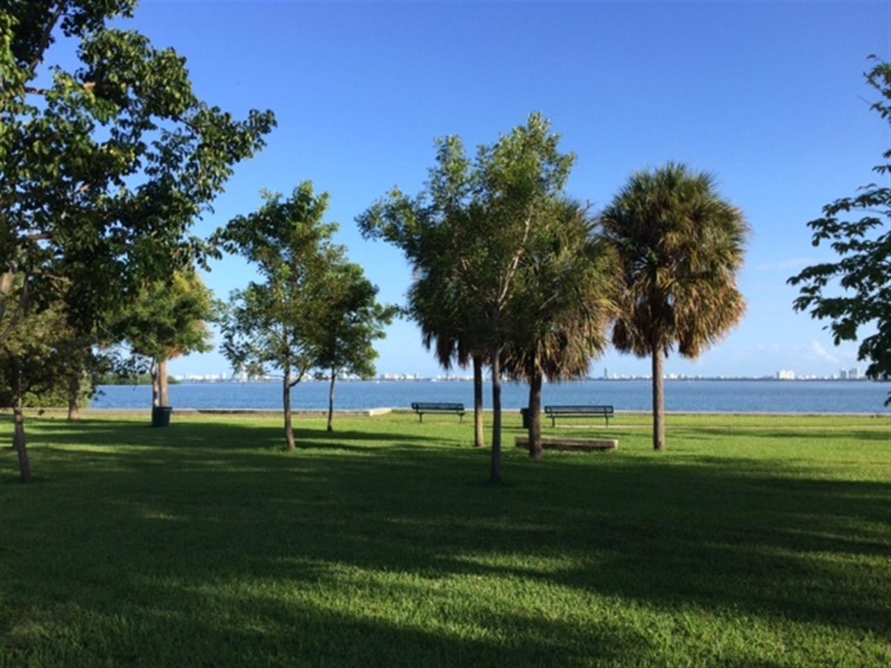 Biscayne Bay from the Park on 69th