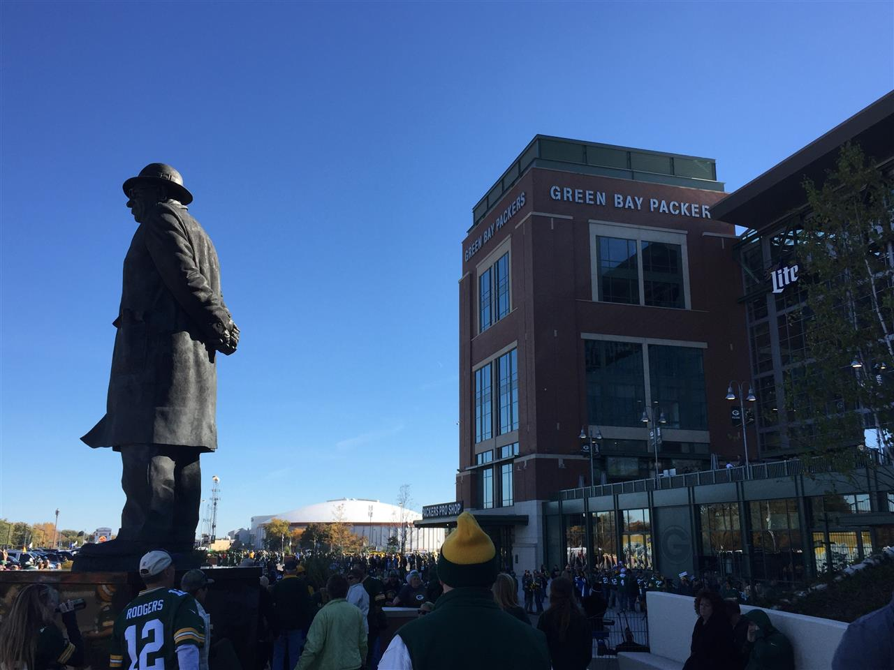Home of the Green Bay Packers football team, Lambeau Field in Green Bay, WI
