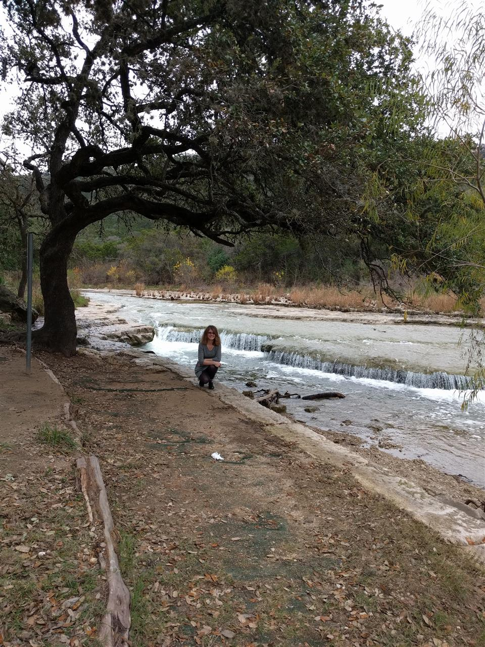 Me on the banks of Bull Creek
