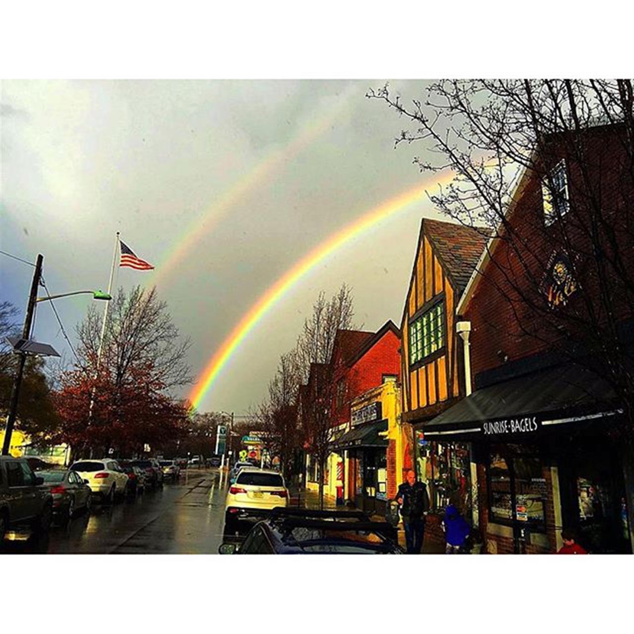 Somewhere over the double rainbow.....Watchung Plaza in Montclair.  #halstead  #exploreyourhood  #montclair #leadingrelocal