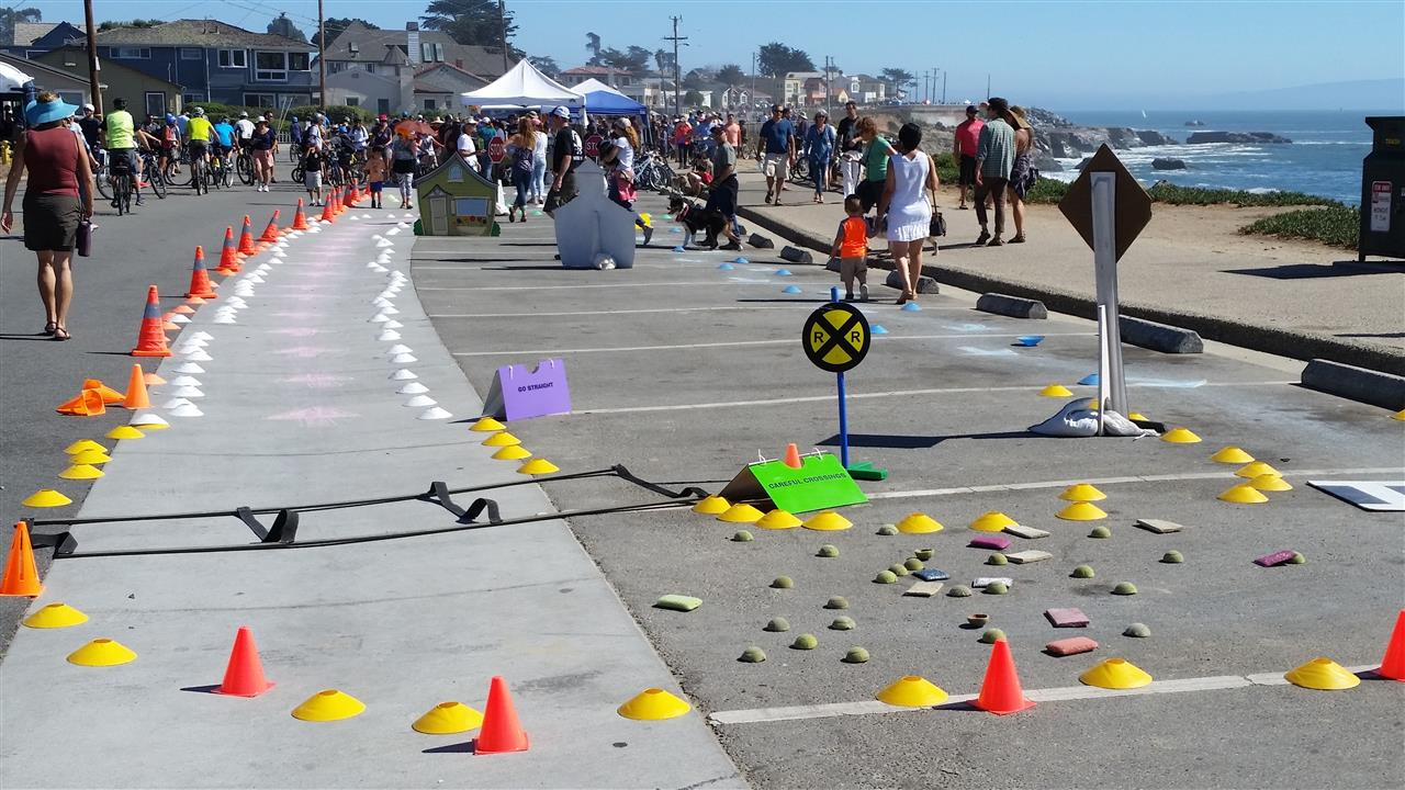 Street Closure Day on West Cliff Drive- Santa Cruz, CA