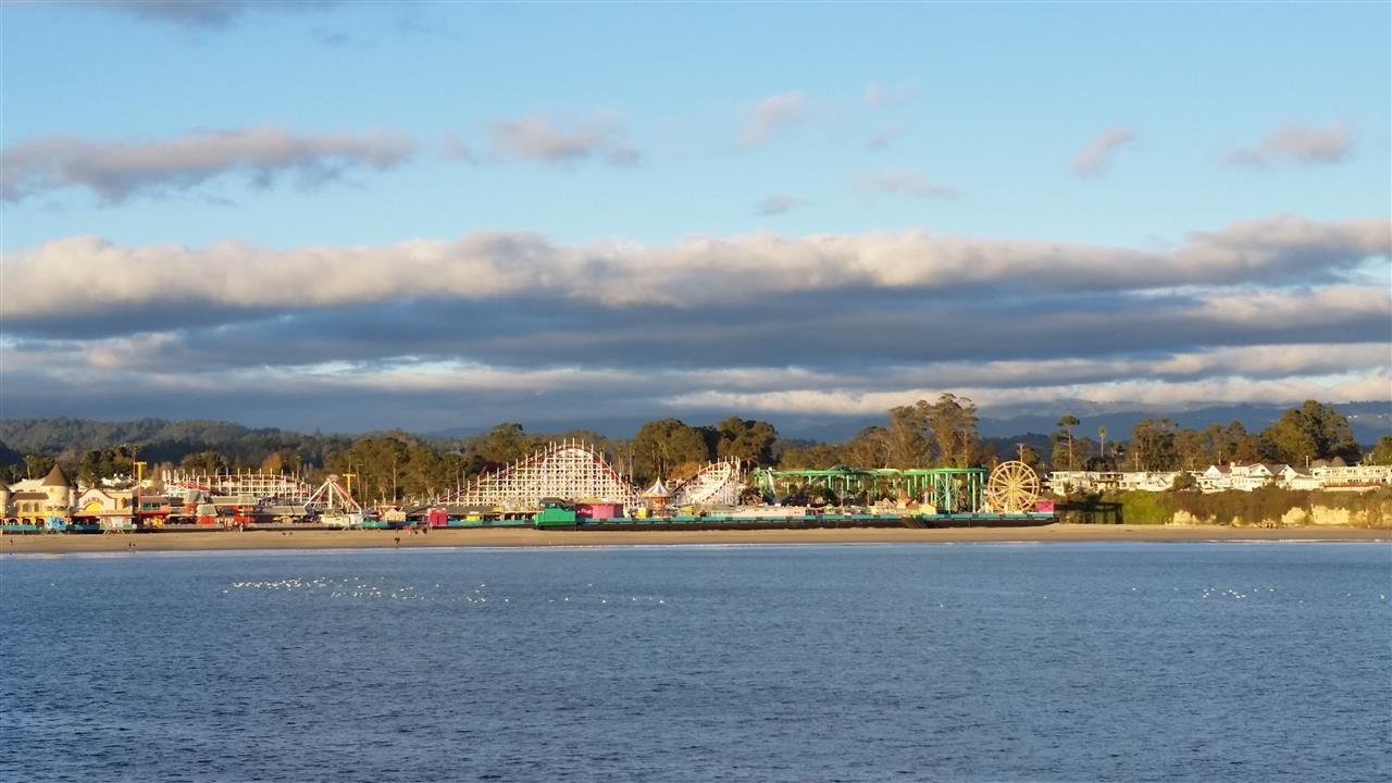 The Boardwalk, taken from the Santa Cruz Wharf